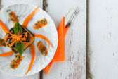 Gnocchi Chard Pumpkin Timbale — Stock Photo