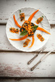 Pumpkin Chard Gnocchi Moulded — Stock Photo