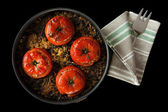 Tomatoes Stuffed Rice Chard — Stock Photo