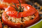 Rice Stuffed Tomato Closeup — Stock Photo