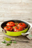 Baked Tomatoes Pan — Stock Photo