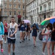 Teenagers Group Navona Rome — Stock Photo #48442129