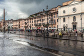 Rainy Day Navona Square — Stock Photo