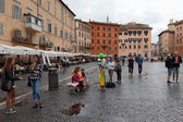 People Navona Square — Stock Photo