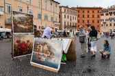 Painter Navona Square — Stock Photo