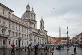 Navona Square Under The Rain — Stock Photo
