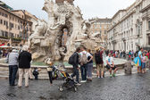 Four Rivers Fountain Navona — Stock Photo