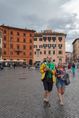 Tourists In Piazza Navona — Stock Photo