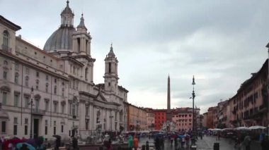 Piazza Navona — Stock Video