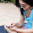 Young Woman Using Mobile Phone — Stock Photo #49667887