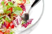 Fresh mixed salad closeup — Stock Photo
