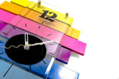 Colourful contemporary clock — Stock Photo