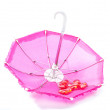 Pretty pink parasol with romantic hearts — Stock Photo #24678041