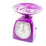 Funky purple kitchen scale — Stock Photo #24887095