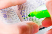 Highlighting the Privacy word on a dictionary — Stock Photo