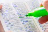 Highlighting the Handicap word on a dictionary — Stock Photo