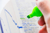 Highlighting the Search word on a dictionary — Stock Photo