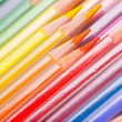Background of rainbow coloured pencils — Stock Photo