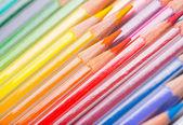 Background of rainbow coloured pencils — Stock Photo