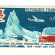 Old french stamp - Polar exploration 1968 — Stock Photo #11906499