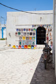 Typical tunisian pottery shop - Tunisia — Stock Photo