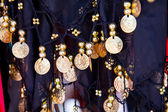 Belly dance costume details — Stock Photo