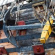 Detail of Neptune Galleon, used by Roman Polansky for the movie — Stock Photo