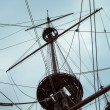 Detail of Neptune Galleon, used by R. Polansky for the movie Pir - Stock Photo