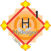 Hydrogen form Periodic Table of Elements V3 — Stock Vector