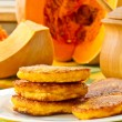 Pumpkin pancakes — Stock Photo