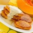 Stock Photo: Pumpkin pancakes
