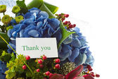 Krásná kytice z hortenzií — Stock fotografie