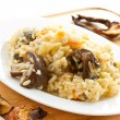 Pilaf with mushrooms — Stock Photo