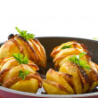 Potatoes stuffed with bacon — Stock Photo