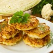 Cabbage pancakes — Stock Photo