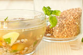 Soup buckwheat — Stock Photo