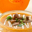 Pumpkin soup with mushrooms — Stock Photo #14608465