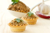 Tartlets with paste — Photo