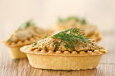 Tartlets with paste — 图库照片