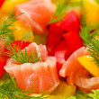 Stock Photo: Salad with salted salmon