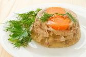 Vlees aspic — Stockfoto