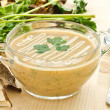 Stock Photo: Mushroom puree soup