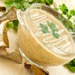 Mushroom puree soup — Stock Photo