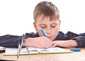 Student to do homework — Stock Photo