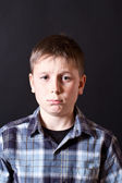 Portrait of a boy hurt — Stock Photo