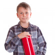 Boy with a fire extinguisher - Stock Photo
