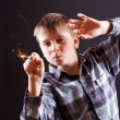 Boy with sparklers — Stock Photo #18240111