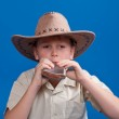 Portrait of a boy in a cowboy hat — Stock Photo #18260637