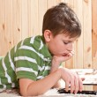 Boy teenager with tablet computer — Stock Photo #18972065