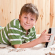 Boy teenager with tablet computer — Stock Photo #18972471